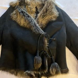 Toppolino Shearling Black Jacket used once